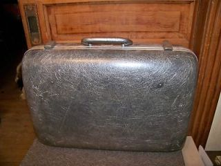 Vintage Mid Century Koch of CA. Gray Fiberglass Suitcase Luggage