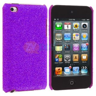 sparkly bling glitter hard back cover case for ipod touch 4th gen 4g