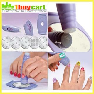 Salon Express Nail Art Stamping Kit as Seen on TV Create BNB