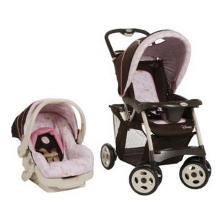 New Disney Pro Pack Baby Travel System Pink Stroller Infant Car Seat
