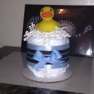 Ducky Diaper Cake Mini Baby Shower Centerpieces Gifts