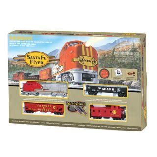 Bachmann 00647 HO Scale Santa Fe Flyer Train Set Santa Fe SF New