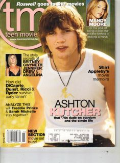 Ashton Kutcher Teen Movieline Magazine Spring 2001 Mandy Moore