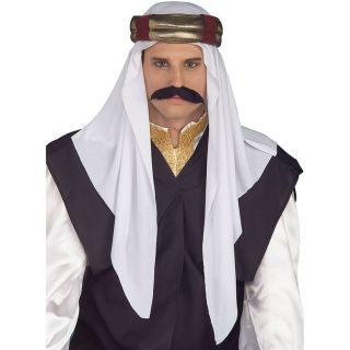 Arab Headpiece White Sheik Desert Adult Mens Costume