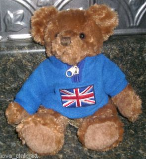 ARCHIE RUSS BERRIE & CO BRITISH TEDDY BEAR STUFFED ANIMAL PLUSH TOY W