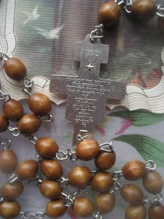 St Francis Assisi Franciscan Crown Seven Decade Wood Rosary San