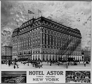 1920 Hotel Astor Breakfast Menu Louis XIV Room New York City