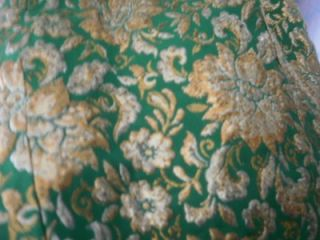 Metallic Brocade Fabric 60s Mad Men Xmas Party Dress An Arkay