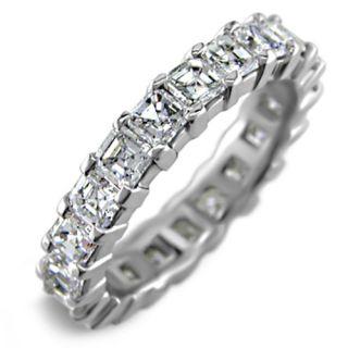 Ct Asscher Cut Diamond Eternity Ring 18K White Gold