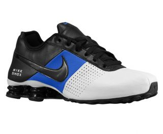 MENS NIKE SHOX DELIVER LEATHER RUNNING SHOES WHITE / ROYAL / BLACK 6.5