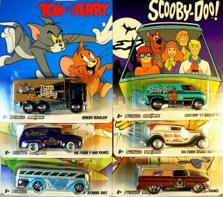 Hot Wheels Nostalgia Hanna Barbera Full Set of The 6 from The C Case