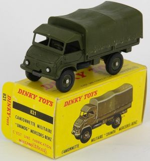 FRENCH MILITARY DINKY TOYS 821 UNIMOG MERCEDES BENZ ARMY COVERED WAGON