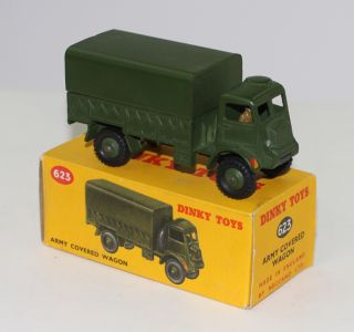 Military Dinky Toys 623 Army Covered Truck with Driver
