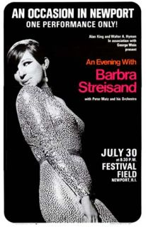 Movie Star ~Concert Poster~ Barbra Streisand ~ An Occasion in Newport