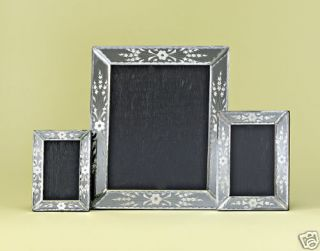 Aubrey Venetian Hand Carved Polished Mirror Photo Frame