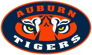 Auburn Tigers Cornhole Decal Sticker Set of 2