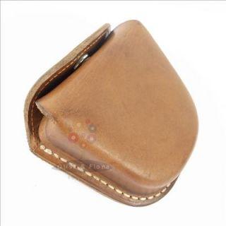 Vintage Leather Ammo Bag For Slingshot Steel Balls Belt Mounted Bullet