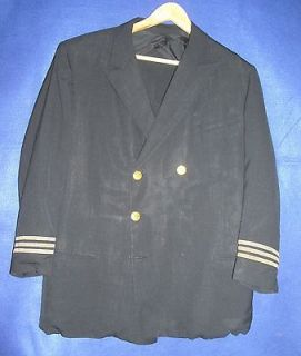 1940s   1950 Vintage Delta Airlines Captain Pilot Uniform Jacket