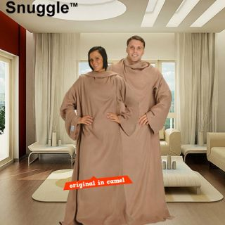 As Seen on TV Hands Free Snuggle Blanket with Sleeves One Size Fits