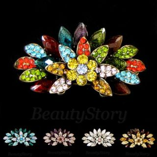 Rhinestone Crystal Fashion Hair Barrette Clip