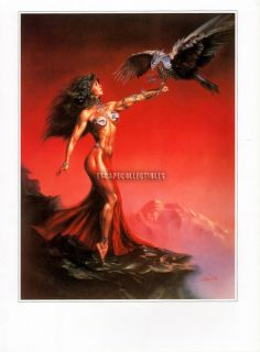 Julie Bell Fantasy Art Robo Bird Sexy Warrior Woman Hawk Pinup Girl