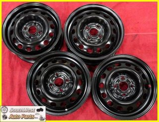 05 Honda Civic 14 4x100 Black Steel Wheels Rims Set of 4 63827