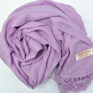 New HOT Purple Ladies Womens Autumn Cashmere Long Soft Solid Shawl