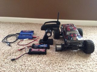 RC Car Battery Powered HPI Racing Savage XS Flux Extra Batteries And