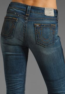 True Religion Womens Avery High Rise Vintage Slim Jeans in Defiance