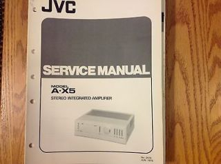 service manual for jvc stereo integrated amplifier a x5 one