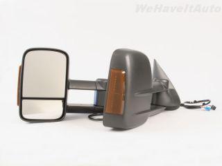 Power Heat Turn Signal Pair Camp Tow Side Mirror Telescoping