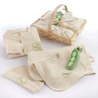 Baby Aspen Fresh Produce Sweet Pea 5pc Organic Layette Set Clothing