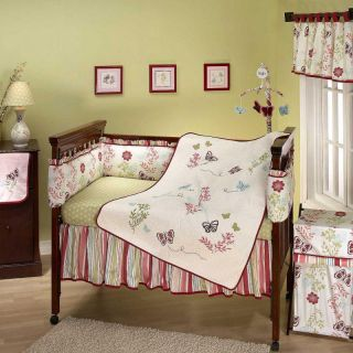 Alexis Garden 7 Piece Baby Nursery Crib Bedding Set by NoJo