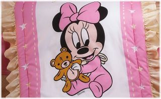 New Disney Baby Minnie Pink Baby Crib Bedding Nursery Set 5 Pieces
