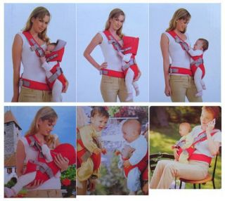 Top New 6 In 1 Front & Back Baby And Kids Carrier Backpack Sling Red