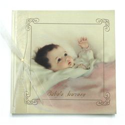 Opposite most pages are blank Memo pages for adding baby photos or