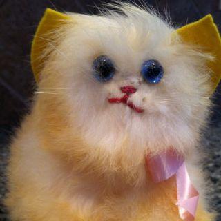 Rare Vintage Kitty Cat FURRY PLUSH stuffed animal toy Super Soft
