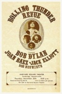 Dylan Poster Rolling Thunder Revue Tour Joan Baez Live Must See