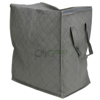 Non Woven Fabric Gray Clothes Storage Bags Bamboo Fiber Quilt