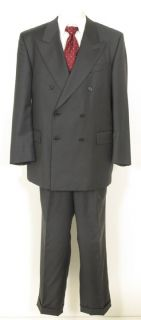 Baggio Super100 Dark Gray Wool Italian Mens Suit Sz 44