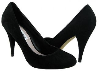 New Steve Madden Womens Unityy Black Suede Pumps Shoes US Sizes