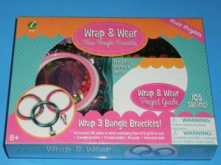 Childrens Wrap & Wear Floss Bangle Bracelets Craft Kit Lot 105 Skeins