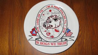Arkansas Razorbacks Frankoma Pottery Plate #164 0f 500 Excellent