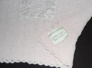 Baby Girls Pink Barefoot Dreams Chenille Satin Blanket