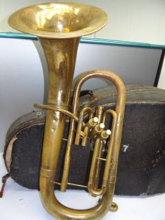 Brass Pan American Elkhart Indiana Baritone Horn Music Instrument