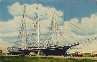 NJ Beach Haven Schooner Lucy Evelyn Early T94241