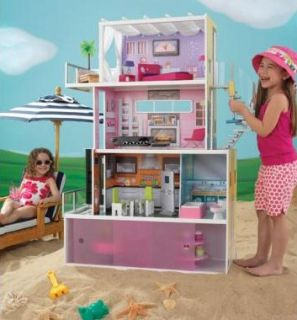 Beachfront Mansion Dollhouse Girls Pretend Play House 65385