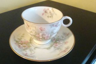 Vintage Theodore Haviland New York Apple Blossom Demitasse Tea Cup and