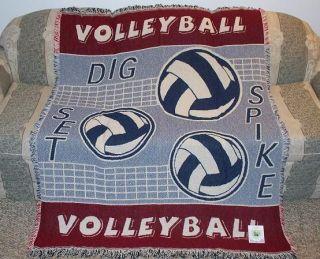New Volleyball Blanket Spike Net Beach Sports White Girls Mens Team