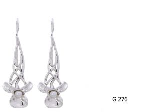 New Hagit Gorali Sterling Silver Earrings with Pearls Color White or